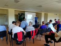 На стадионе «Электрон» прошел семинар для футбольных тренеров