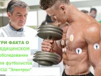 Три факта о медицинском обследовании для спортсменов СШ «Электрон»