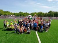 В «Дне массового футбола» на стадионе «Электрон» приняли участие 120 малышей